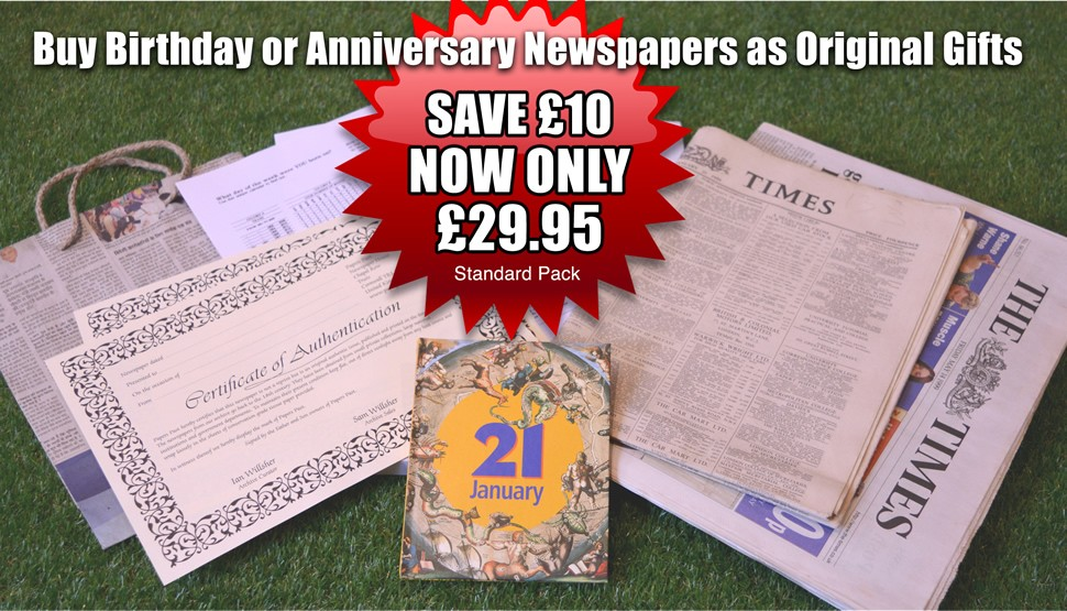 Buy birthday or anniversary newspapers as original gifts